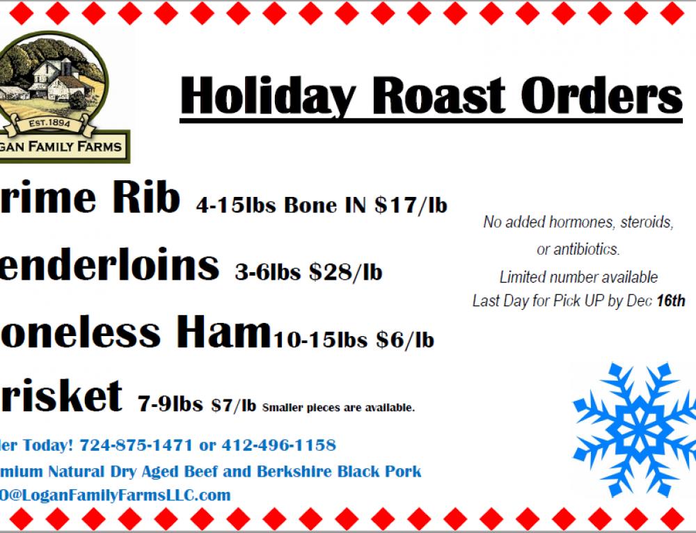 Holiday Roast Orders